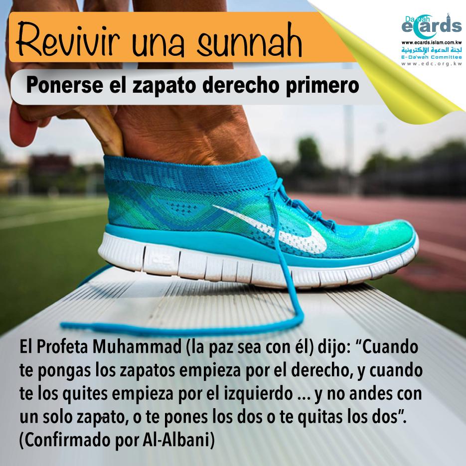 Revivir un Sunnah: ponerse el zapato derecho primero