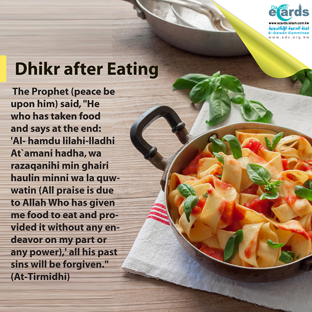 Dhikr after Eating
