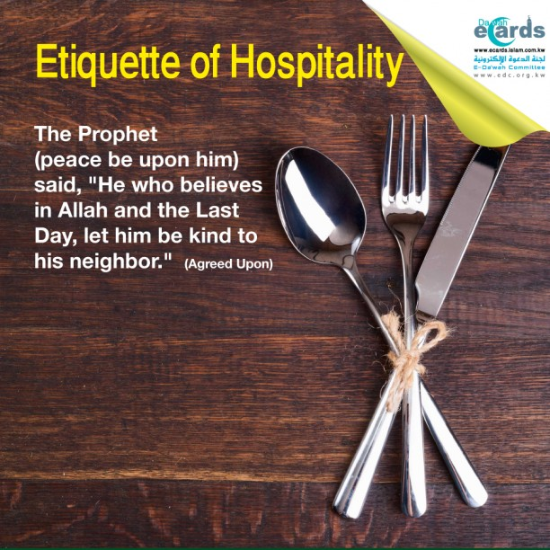 tools of eating - Etiquette of Hospitality