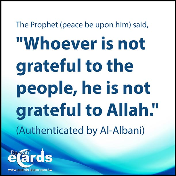 Being Grateful to People