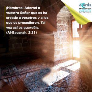 Adorad a vuestro Señor que os ha creado