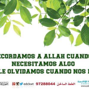 Recuerda a Allah en los buenos y malos momentos