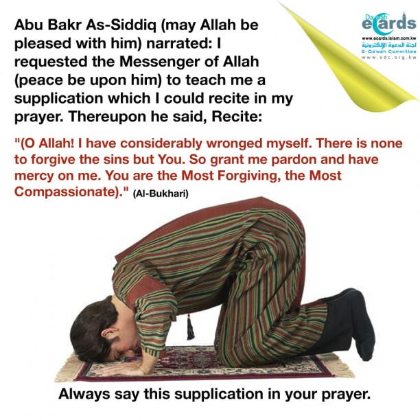 A man prostrate during his prayer.